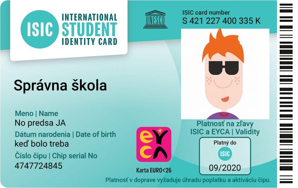 Informácia pre držiteľov kariet  ISIC/EURO26 a ITIC