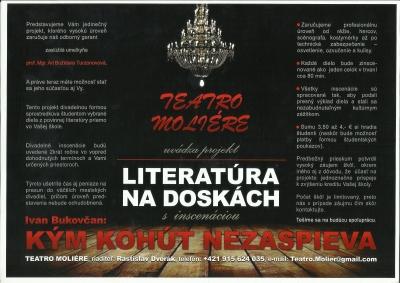 Teatro Moliére a ich  literatúra na doskách